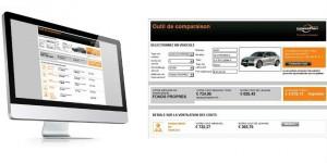 LeasePlan fournit aux sociétés un outil pour comparer les coûts d'acquisition de leur parc automobile