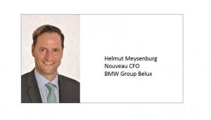 Helmut Meysenburg, nouveau CFO de BMW Group Belux.