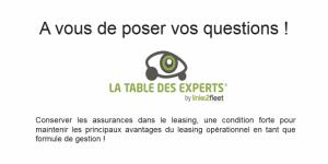 Les assurances sur la prochaine table …des experts