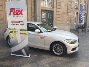 BMW hyper présent dans le flex-carsharing by CFL