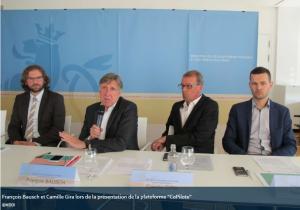 """François Bausch et Camille Gira présentent la plateforme de covoiturage nationale """"CoPilote"""""""