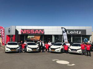 4 Nissan au départ du marathon ING Luxembourg.