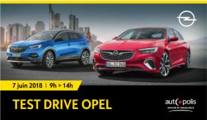 Invitation au Test Drive de Opel le 7 juin