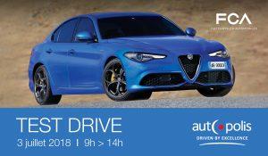 Autopolis vous invite au Test Drive FCA le 03 juillet