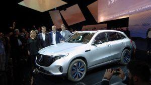 Mercedes présente son premier véhicule 100 % électrique, le EQC
