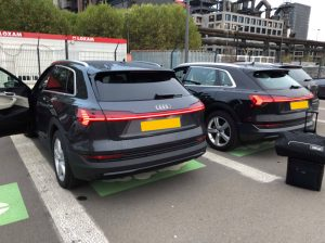 Quatre Audi e-tron aperçues ce matin à Esch-sur-Alzette !